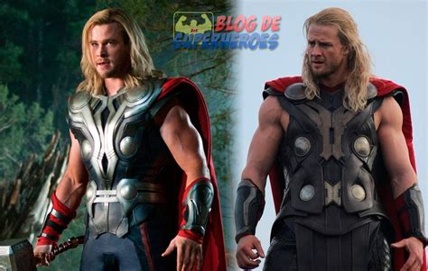 thor movie van chris hemsworth luce nuevo traje en el rodaje de thor 2 en