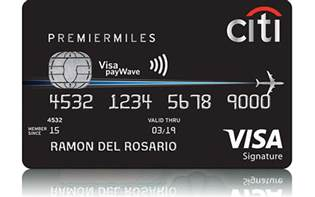 premiermiles card travel credit card with air citi philippines