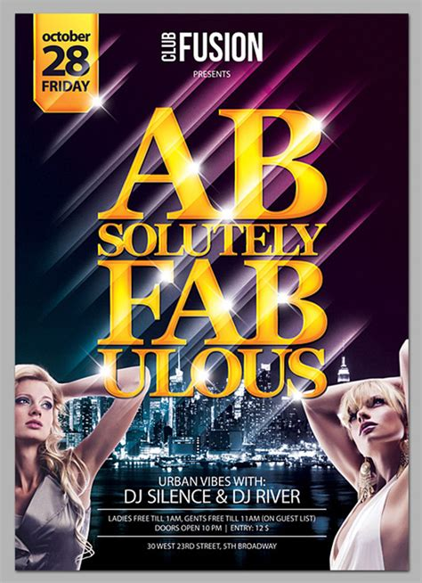 free nightclub flyer design templates free psd poster templates for 2015 festive season