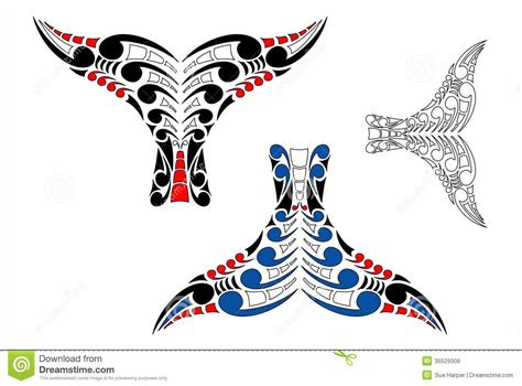 maori koru whale tail design royalty free stock images