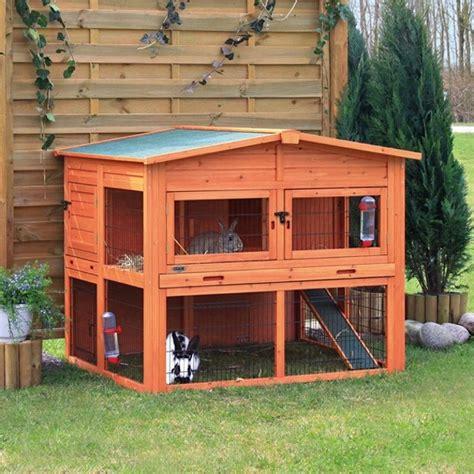 gabbie grandi per conigli trixie casetta natura xl con recinto da esterno per