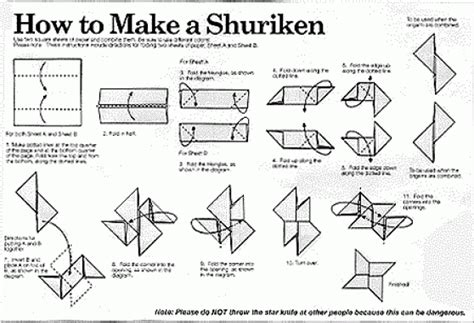 shuriken manual books origami origami
