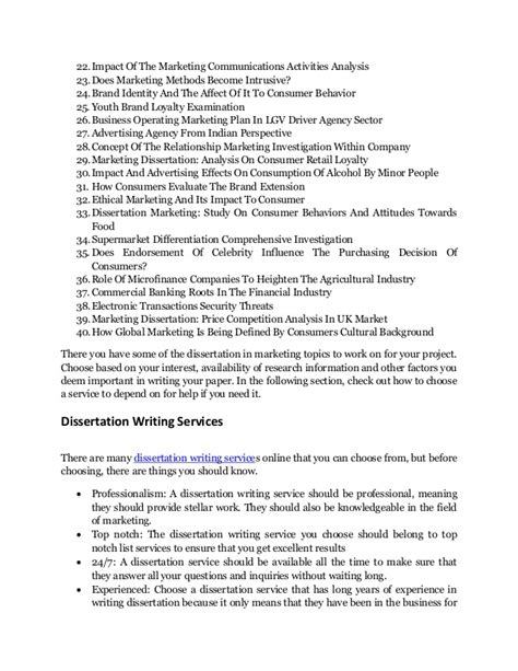 dissertation topics dissertation topic on marketing 28 images dissertation