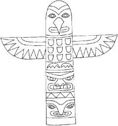 Totem Pole Template by Free Coloring Pages Of Animal Totem Poles