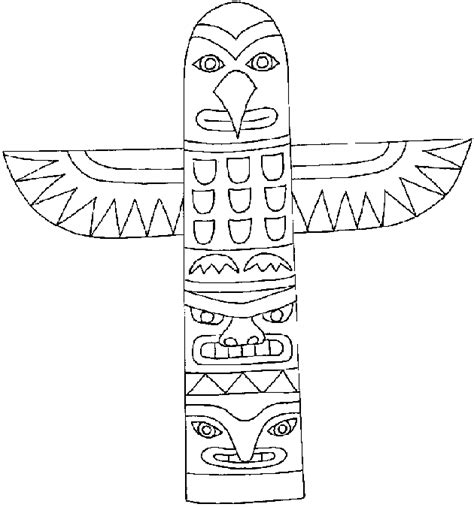 totem pole template free coloring pages of animal totem poles