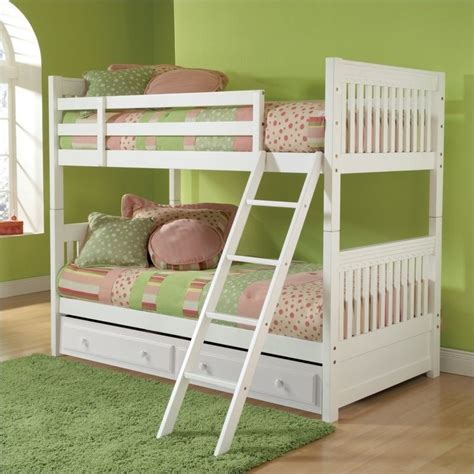 white bunk beds twin over twin hillsdale lauren twin over twin bunk bed in white 1528bbx