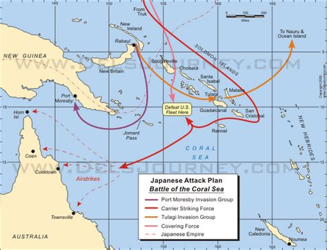 coral sea map the freedom fighter s journal the battle of the coral sea
