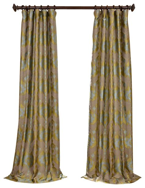 rustic curtain borneo blue jacquard curtain traditional curtains