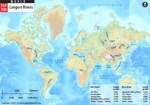 World River Map by Take A Tour On 10 Of The World S Longest Rivers 1
