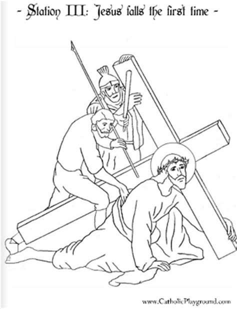 coloring book pages stations of the cross coloring page for the third station of the cross jesus