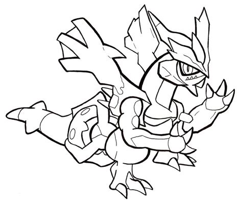 pokemon coloring pages kyurem black kyurem chibi line art by gallade007 on deviantart