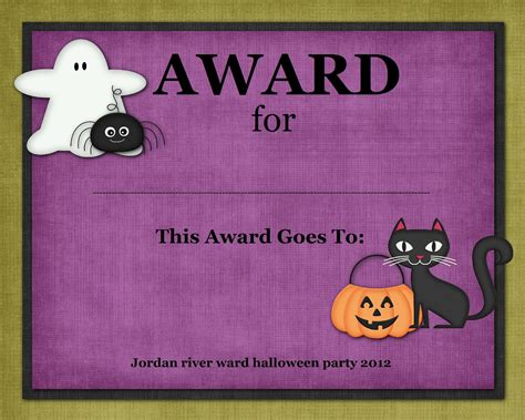 costume certificate template digital designs scrapbooking costume contest awards