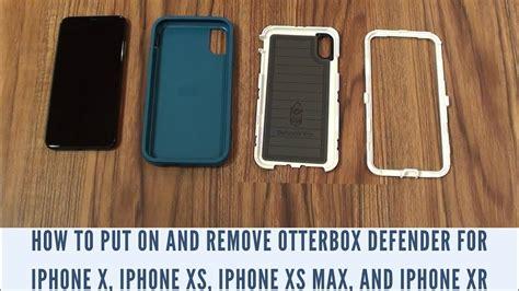 put   remove otterbox defender  iphone