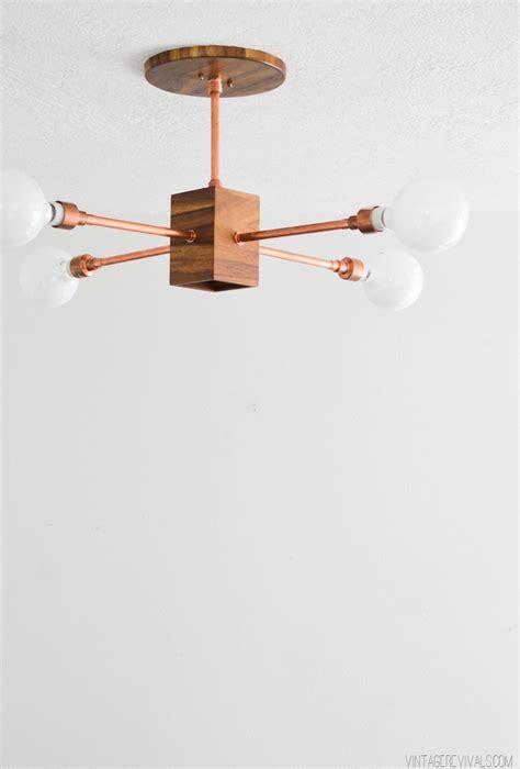 Diy Hanging Light Fixtures Diy Copper And Wood Hanging Light Fixture Vintage Revivals Bloglovin