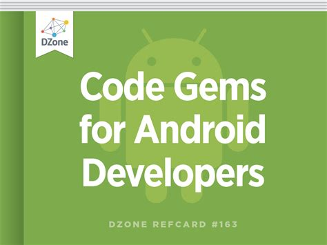 android layout guide pdf code gems for android developers dzone refcardz