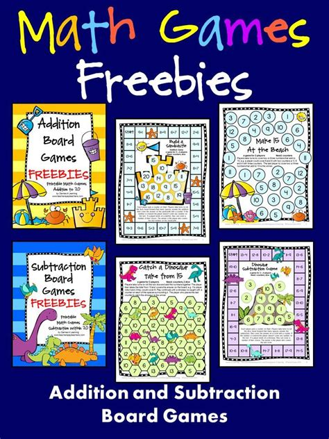 printable board games for math freebies addition and subtraction math board games just