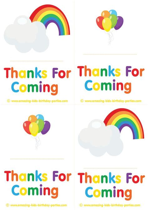 printable birthday cards rainbow free rainbow thank you cards notes at http www amazing