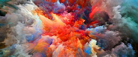 colorful explosion wallpaper color explosion 3440x1440 widescreenwallpaper