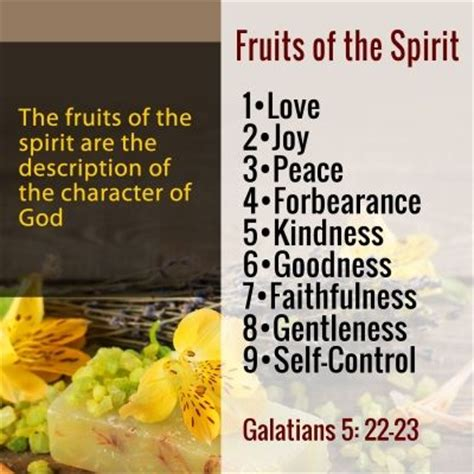 9 fruits of the holy spirit bible verse fruits of the spirit religious notes bible