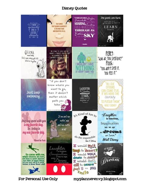 printable quotes planner disney quotes free planner printable stickers my