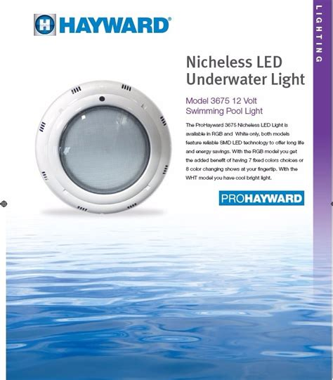 iluminacion watts laras led 24 watts multicolor hayward piscinas albercas