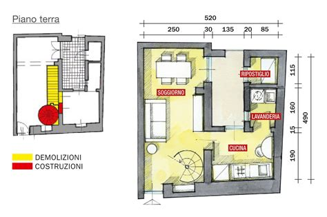 piantine casa 48 mq bilocale su due livelli cose di casa