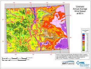 colorado wind map estimating wind speed wind energy
