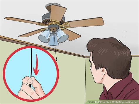 how to fix an unbalanced ceiling fan 3 ways to fix a wobbling ceiling fan wikihow