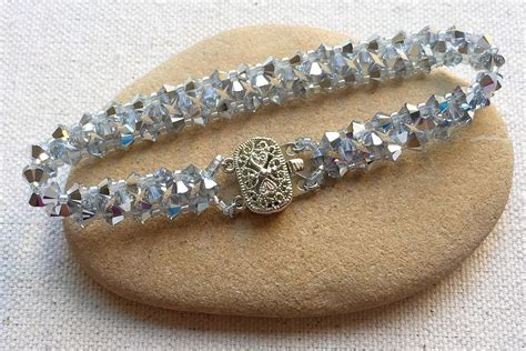 how to do bead easy swarovski bead bracelet tutorial