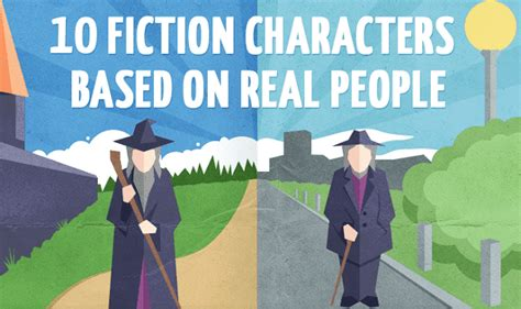10 Fictional Characters To Follow On by 10 Fiction Characters Based On Real Infographic