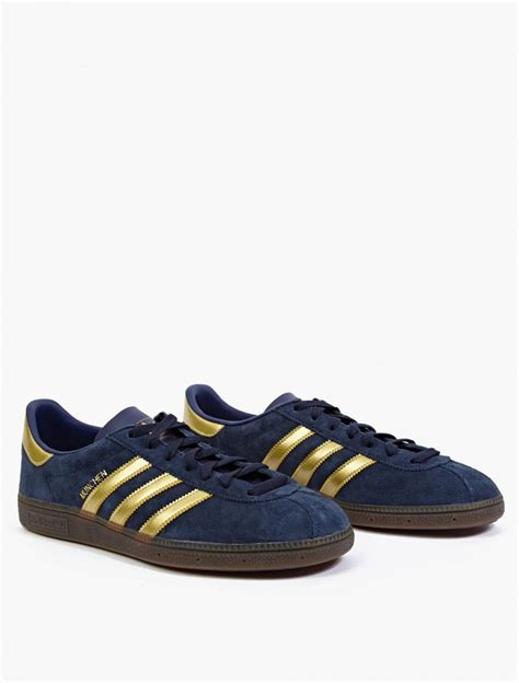 adidas originals blue munchen spezial sneakers in blue for lyst
