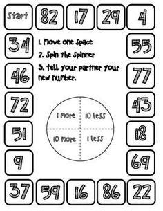 printable ordering numbers game skip counting charts for 5s10s20s25spartial skip counting