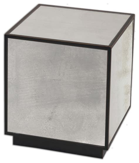 Cube Side Table Matty Mirrored Cube Table Traditional Side Tables And End Tables