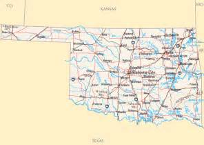 State Map Of Oklahoma by Oklahoma Map Map Of Oklahoma