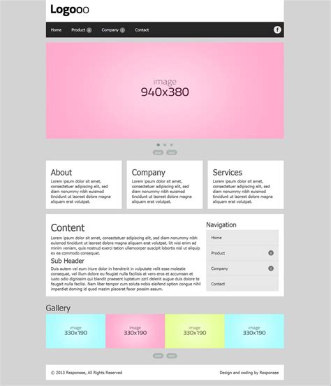 responsive template for responsive website templates free for business
