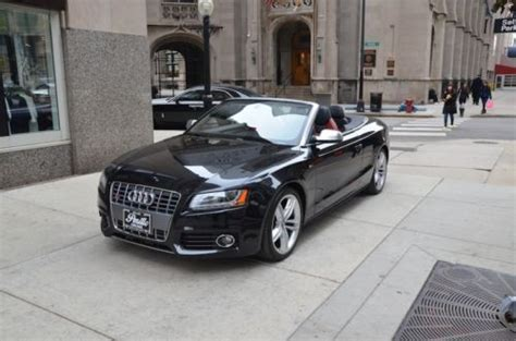 audi s5 power upgrades sell used 2010 audi s5 convertible black black 24k