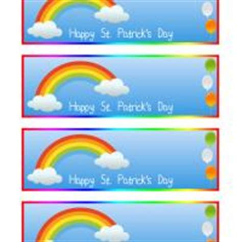 printable rainbow bookmarks st patrick s day rainbow bookmarks