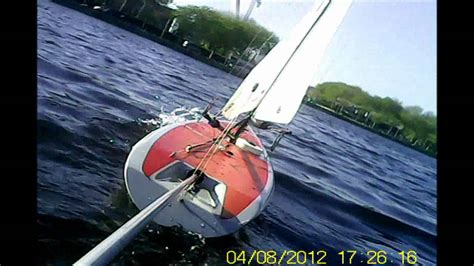 rc boats with camera rc sailing boat with outboard pendular camera youtube