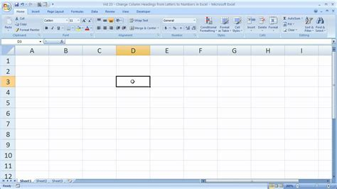 excel tips 23 change column headings from letters to