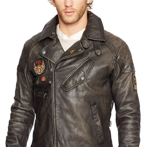 Polo M R T Riders Clothing lyst polo ralph leather motorcycle jacket in
