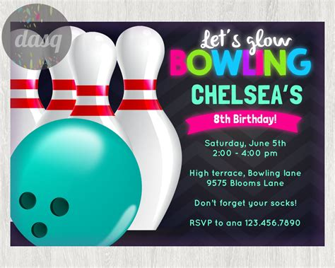 bowling party invitation templates