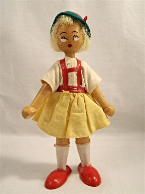Find In Poland Vintage Wooden Peg Dolls Made In Poland Great Find Other