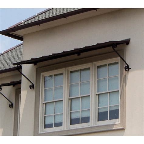 window awning 8 foot standing seam awning