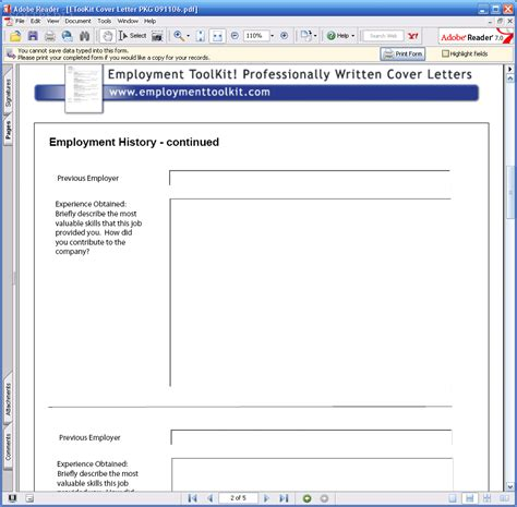 free employment toolkit resume templates download