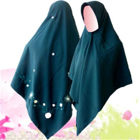 Jilbab Segi Empat Bordir pioner jilbab syar i jilbab segi empat bordir pojok