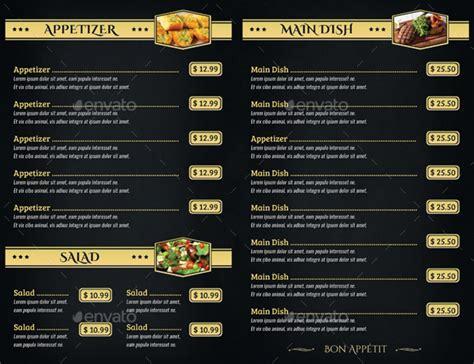 design menu with html 14 menu card designs exles psd ai vector eps