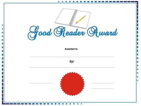 good reader award templates for powerpoint presentations