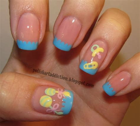 Baby Shower Nails by Baby Shower Nail Designs To Be A Somewhat Muted