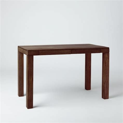 West Elm Parson Desk by Parson S Desk With Drawers Mango Wood Modern Desks