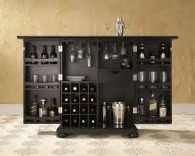 Bar Cabinet Furniture by Alexandria Expandable Bar Cabinet In Black By Crosley